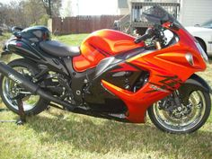 Stretched, Muzzy Exhaust , chrome rims , orange black , Suzuki Hayabusa , www.PashnitBusa.com #pashnit #hayabusa