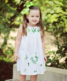 This Emerald Lorena Dress - Infant, Toddler & Girls by Little Cotton Dress is perfect! #zulilyfinds