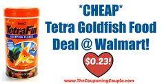 STOCK-UP PRICE! *CHEAP* Tetra Goldfish Food Deal @ Walmart!  Click the link below to get all of the details ► http://www.thecouponingcouple.com/cheap-tetra-goldfish-food-deal-walmart/ #Coupons #Couponing #CouponCommunity  Visit us at http://www.thecouponingcouple.com for more great posts!