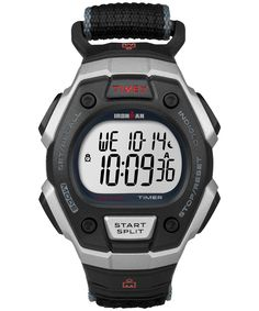 7a979020100 Timex Men s Ironman Classic Digital Silver-Tone Resin Watch with Bla.