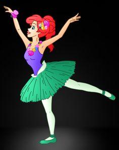 Disney Ballerina's: Ariel by Willemijn1991 on deviantART