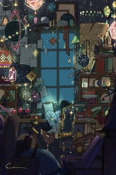 Fantasy Rooms, Fantasy Art, Aesthetic Art, Aesthetic Anime, Witch Wallpaper, Witch Room, Witch Art, Environment Concept Art, Anime Scenery