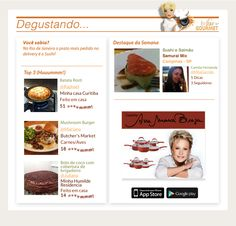 Newsletter dessa semana do aplicativo Ana Gourmet