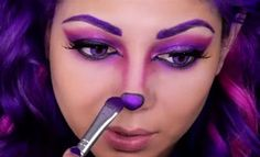 How to Perfect the Cheshire Cat's Purple Makeup Look for Halloween ...