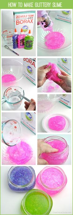 How to make easy homemade glittery slime for kids