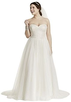 It's rare to find a strapless wedding dress that's both graceful and tastefully sexy but this strapless ball gown is both thanks to the corset which features a sweetheart neckline and a lace-up back ...