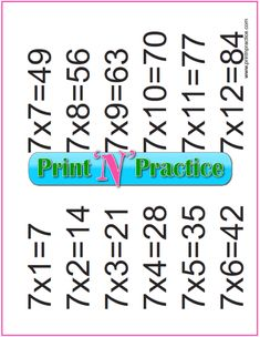 Fun multiplication worksheets to print or file. PDF worksheets, flash cards, charts, and videos. Free Multiplication Worksheets, Teaching Multiplication, Multiplication And Division, Printable Worksheets, Maths, Division Flash Cards, Math Drills, Math For Kids, Charts