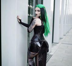 Gothic Lingerie, Gothic Corset, Victorian Gothic, Gothic Lolita, Hot Goth Girls, Gothic Girls, Black Girl Fashion, Gothic Fashion, Steampunk Fashion