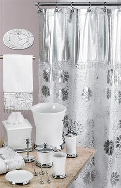 Phoenix White U0026 Silver Bath Accessory Set Part 43