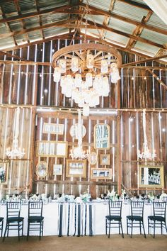 <3 ing the Mason Jar Chandelier in this Rustic/Country Setting and Framed Mirrors for added charm!