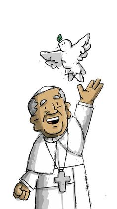 Bubble Pictures, Bible Encouragement, Papa Francisco, Catholic Art, Cartoon Drawings, Faith, Fallout Vault, God, Fictional Characters