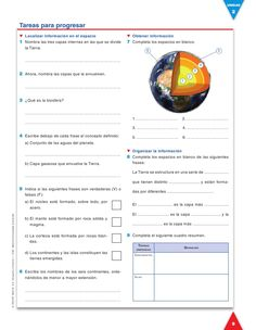 Evaluación 1 curso Earth Science Experiments, Earth Science Lessons, Social Studies Worksheets, Sistema Solar, Projects For Kids, Geography, Back To School, Homeschool, Classroom