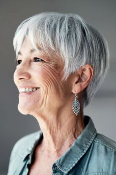 Latest hairstyles for older women over 60 in 2021-2022 Thin Hair Styles For Women, Hair Color For Women, Cool Hair Color, Short Hair Styles, Haircut For Older Women, Short Hairstyles For Women, Hairstyles With Bangs, Cool Hairstyles, Medium Hairstyles