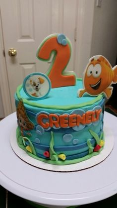 Bubble Guppies Smash Cake - Amy's Crazy Cakes