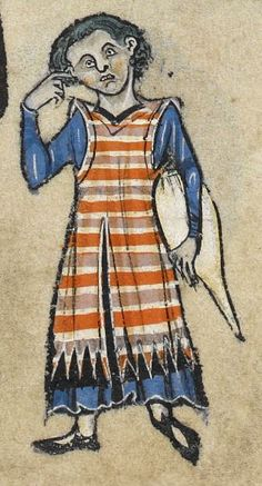 "Detail from ""The Rutland Psalter"", medieval (c1260), British Library Add MS 62925. f 52 r"
