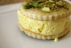 "Saffron Ice Cream | Community Post: 20 Persian Foods To Blow Your Taste Buds Away - Iranians give a whole new meaning to the term ""ice cream sandwich"". Taking saffron to a new level, this common dessert is a creamy, custard-based saffron ice cream. Served between thin wafers and sprinkled with pistachios, it's the perfect ice cream treat."