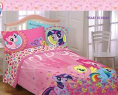 My Little Pony Full Comforter & Sheet Set (5 Piece Bed In A Bag) by Hasbro. $103.95. The set includes 1- FULL Comforter, 1- Flat Sheet, 1- Fitted Sheet & 2- Pillowcases.. Brighten up your little girl's room with the My Little Pony FULL Size Comforter Set. This kids comforter for girls features Twilight Sparkle and the rest of the pony gang in fun and bright colors that will add pizzazz to any child's room.  The set includes 1- FULL Comforter, 1- Flat Sheet, 1- Fitted Sheet & ...