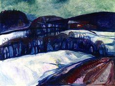 Snow Landscape at Night Edvard Munch - 1923-1926