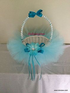Frozen Inspired Tutu Easter Basket by Tutunyou on Etsy, $25.00: