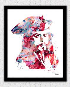 Jack Sparrow art print, Jack Sparrow painting print, Pirates of the Caribbean, Jonny Depp, Disney Jack Sparrow, Jack Sparrow poster