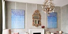 Thomas Hamel house tour Living Room Furniture Layout, Living Room Seating, Living Rooms, De Gournay Wallpaper, London Townhouse, Townhouse Designs, Painted Stairs, Elle Decor, House Tours