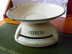 Old enamelware scale