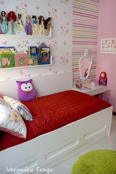 Decoração de quarto de menina feita por mim