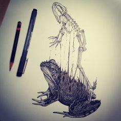 Desenhos rico em detalhes feito à caneta (10)