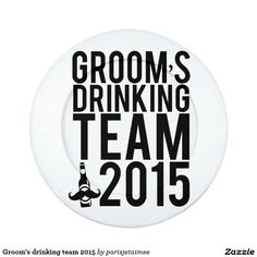#wedding #drinkingteam #groom #bachelorparty #groomsmen #beer #mustache  Groom's drinking team 2015 pack of small button covers