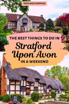 Stratford Upon Avon in Warwickshire is one of the UK's most historic towns. Read our guide to the best things to do in Stratford Upon Avon in a weekend, including all of the best Shakespeare sites, a cruise down the river, and family friendly attractions. England And Scotland, England Uk, London England, Travel With Kids, Family Travel, Family Vacation Destinations, Vacation Ideas, Uk Destinations, Vacations
