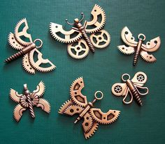 Amazing butterflies made from old clock gears and other metal elements