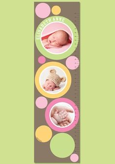 Personalized Photo Paper Growth Chart - Picture Me Soft Pink on Etsy, $36.96 CAD