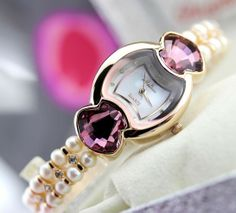 Diamond Pearls Melissa Womens Luxury Watch F6449