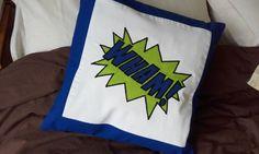 comic book action word applique cushion Comic book by Stewscraft