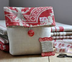 Vintage Fabric Pouch by petits détails, via Flickr
