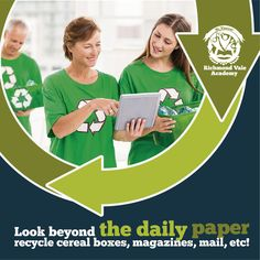 Look beyond the daily paper, recycle cereal boxes, magazines and mail #recycled #environment #reduce