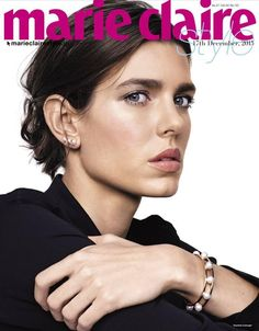 Charlotte Casiraghi for Marie Claire Japan December 2015 Cover