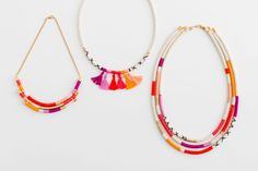 3 Easy Ways to Make a Stunner Necklace With Rope via Brit + Co.