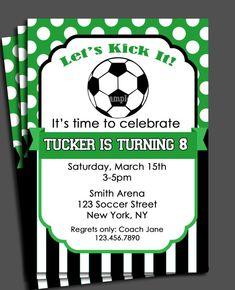 Soccer Birthday Invitation Personalized Body Swap ian carl turns