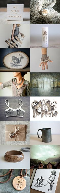 Be wild and #wonder by #plantedfeet on #Etsy--Pinned with TreasuryPin.com #neutral #natural #rustic #grey #christmas