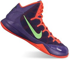 These men's Nike Zoom Without A Doubt basketball shoes are sure to make you king of the court with their design and technologies. SHOE TECHNOLOGIES Zoom Air unit in forefoot provides responsive cushioning for a quick first step Midfoot cage for dynamic lockdown feel Solid outsole promotes multi-directional traction Outsole flex grooves for natural motion Lightweight, breathable design Leather, manmade upper Fabric lining Foam midsole Rubber outsole Lace-up closure Padded footbed