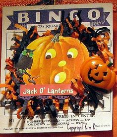 When I first met my mother-in-law (nearly 23 years ago), playing bingo was a regular activity and she was wicked amazing. She could play mu. Halloween Bingo Cards, Halloween Shadow Box, Halloween Scrapbook, Halloween Tags, Halloween Banner, Halloween Ornaments, Halloween Trick Or Treat, Halloween Crafts, Halloween Ideas
