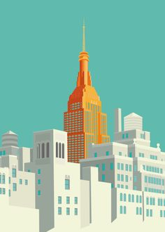 Vector Serigrafia New Art Poster! Building Illustration, City Illustration, Gropius Bau, Poster Online, Kunst Poster, Art Prints, Poster Prints, Empire State Building, New Art