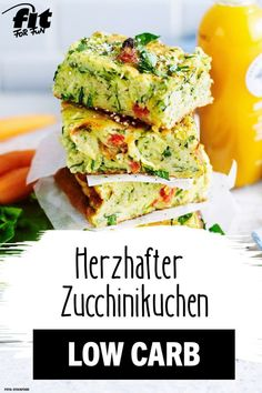 Hearty zucchini cake recipe - FIT FOR FUN - Cake can also be hearty and taste incredibly delicious! Our recipe idea for all low-carb fans: juic - Low Carb Recipes, Vegetarian Recipes, Healthy Recipes, Zucchini Cake, Zucchini Sticks, Recipe Zucchini, Food Inspiration, Clean Eating, Dinner Recipes