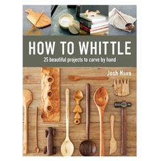 How to Whittle presents 25 fun, creative whittling projects complete with full-color photography and step-by-step instructions on everything from selecting and maintaining carving knives to mastering luxurious finishes. Woodworking Books, Woodworking Patterns, Easy Woodworking Projects, Popular Woodworking, Woodworking Techniques, Woodworking Furniture, Fine Woodworking, Wood Projects, Wood Furniture