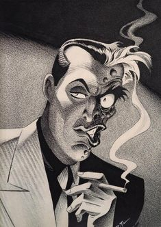 Amazing Two-Face art by Bruce Timm.