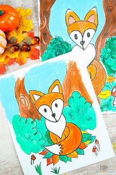 Learn how to draw a fox with our Easy to Draw Step by Step Tutorial - this drawing guide is perfect for beginners and kids, who will learn how to draw a simple fox with just a few flowing lines. Paper Animal Crafts, Sea Animal Crafts, Animal Crafts For Kids, Paper Animals, Crafts For Kids To Make, Easy Animals, Jungle Animals, Woodland Animals, Animals For Kids