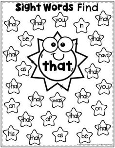 Sight Words for Kindergarten Join our Email Group for Ideas, Freebies & Special Offers.Looking for fun ideas to teach Sight Words for Kindergarten? These awesome hands o Preschool Sight Words, Teaching Sight Words, Sight Word Practice, Sight Word Games, Sight Word Activities, Kindergarten Sight Words Printable, Pre K Sight Words, Listening Activities, Sight Word Readers