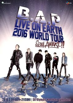 Noticias K-POP: B.A.P anuncia 'LIVE ON EARTH' 2016 World Tour