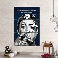 Rocky Quotes Canvas Giclee Print Painting Picture Wall Art Split Canvases Home Decorations, Gifts Rocky Balboa Quotes Canvas Giclee Print Painting Picture Wall Rocky Balboa Quotes, Rocky Quotes, Office Wall Decor, Home Decor Wall Art, Pictures To Paint, Print Pictures, Canvas Quotes, Canvas Home, Picture Wall